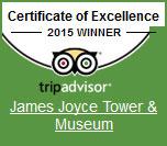 James Joyce Tower Trip Advisor Certificate fo Excellence Winner 2015